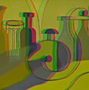 3d Stereo Cubism - Use Red-cyan 3d Glasses Poster