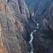 3d10307 Narrows View On North Rim  Poster
