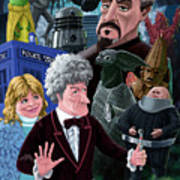 3rd Dr Who And Friends Poster