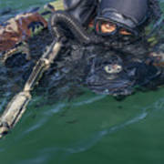 A Navy Seal Combat Swimmer Poster