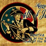 American Revolution Soldier General  Poster