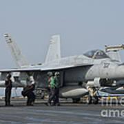 An Fa-18f Super Hornet On The Flight Poster
