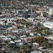 Asheville Aerial Photo Poster