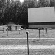 Auburn, Ny - Drive-in Theater Bw Poster
