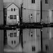 Boathouse Reflections  Poster