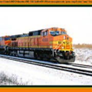 Burlington Northern Santa Fe Bnsf - Railimages@aol.com Poster