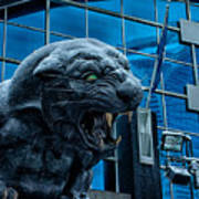 Carolina Panthers Statue Covered In Snow Poster