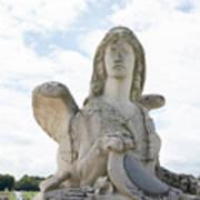 Chantilly Castle Garden In France Poster