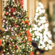Christmas Tree And Decorations With Shallow Depth Of Field Poster