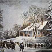 Currier & Ives: Winter Scene Poster