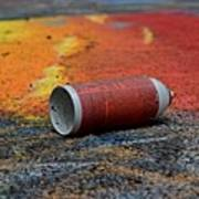 Discarded Spray Paint Can Poster