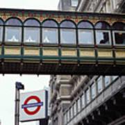 Footbridge In Central London Poster