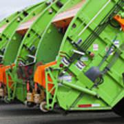 Garbage Truck Fleet Poster by Don Mason