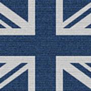 Great Britain Denim Flag Poster