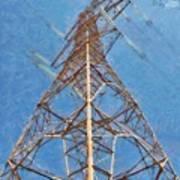 High Voltage Pylon Poster