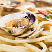 Italian Spaghetti And Clams Made In Naples Poster