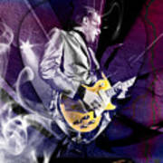 Joe Bonamassa Blues Guitarist Art Poster