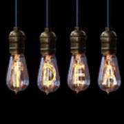 Light Bulb Background Poster