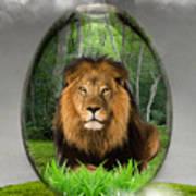 Lion Art Poster