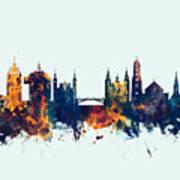 Ljubljana Solvenia Skyline Poster