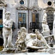 Palermo Fountain Poster