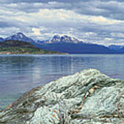 Panoramic View Of Ushuaia, Tierra Del Poster