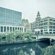 Providence Ri City Skyline Autumn Season Poster