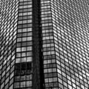 Reflective Glass And Metal Building Poster