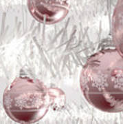 Rose Gold Christmas Baubels Poster