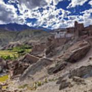 Ruins At Basgo Monastery Leh Ladakh Jammu And Kashmir India Poster