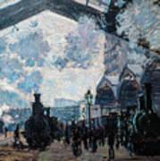 The Gare St Lazare Poster