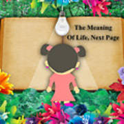 The Meaning Of Life Art Poster