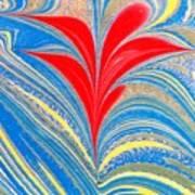 Water Marbling Art, Ebru Poster