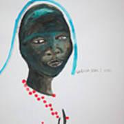 Dinka Bride - South Sudan Poster