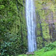 400 Foot Waimoku Falls Maui Poster by Pierre Leclerc Photography
