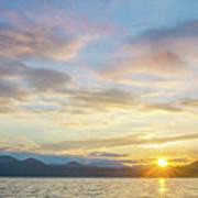 Beautiful Landscape Scenes At Lake Jocassee South Carolina Poster