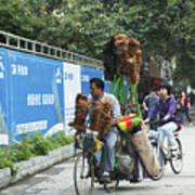 4714- Bicycle Vender Poster