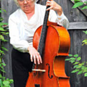 Female Cellist. Poster