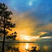 Nature Landscape Oil Painting Poster