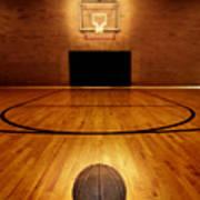 Basketball And Basketball Court Poster