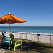 Beachland Boulevard At Vero Beach In Florida Poster