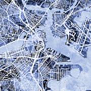 Boston Massachusetts Street Map Poster