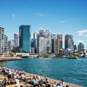 central sydney CBD  area skyline and circular quay in australia Poster