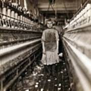 Child Laborer Portrayed By Lewis Hine Poster