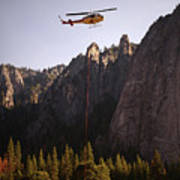 Climber Rescue Operation In Yosemite Poster