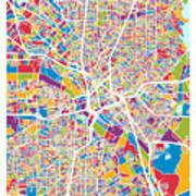 Dallas Texas City Map Poster