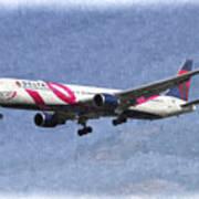 Delta Airlines Boeing 767 Art Poster