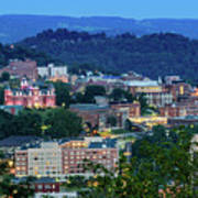 Downtown Morgantown And West Virginia University Poster