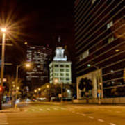 Downtown Tampa Florida Skyline At Night Poster