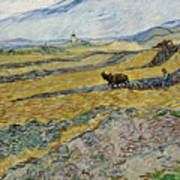 Enclosed Field With Ploughman Poster